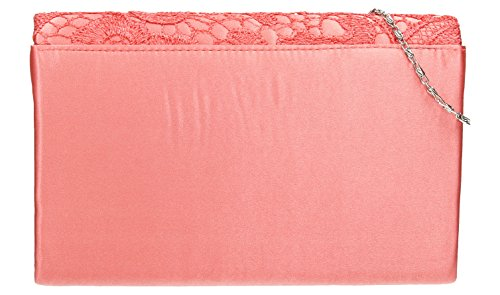 SwankySwans, Poschette giorno donna multicolore Gold Coral Pink