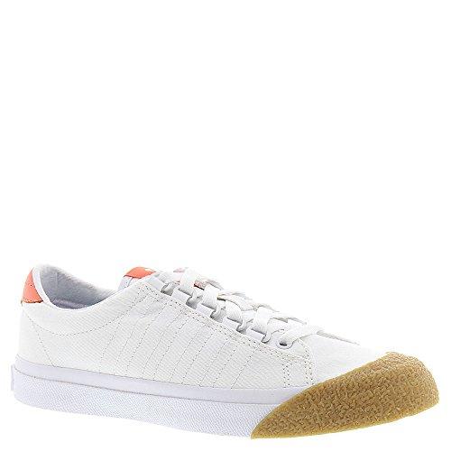 K-Swiss Irvine T, Baskets Basses femme Blanc - Weiß (White/Fusion Coral/Dark Gum)