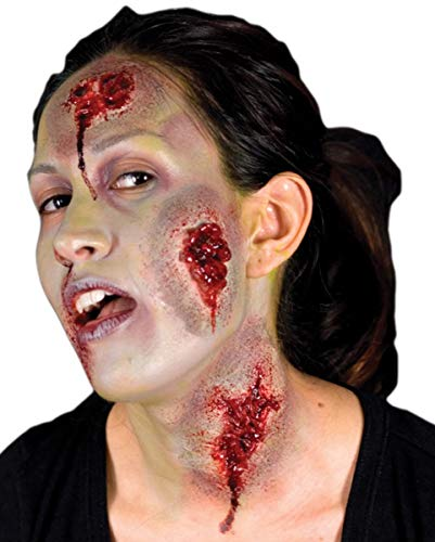 tel Wunde Latexapplikation 3 St. als Halloween Make-up ()