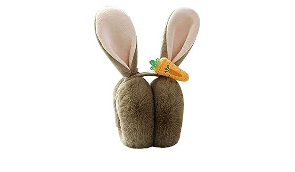 Les cache-oreilles pliables pour l/'hiver se tiennent au chaud gris oreilles-oreilles de lapin mignons