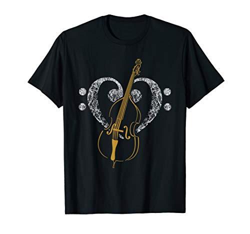Bassschlüssel und Kontrabass TShirt für Bassisten