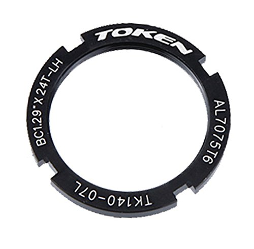 Token Products Lock Ring for Track Fixed Gear Sprocket, Black