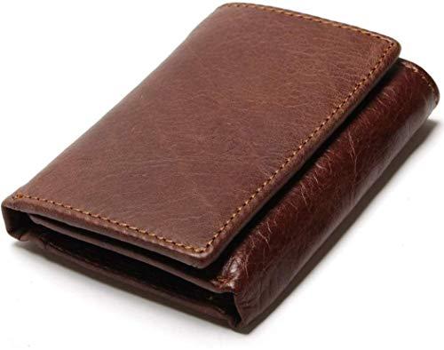 Cartera de hombre en piel de calidad. Sistema especial para evitar la lectura de sus tarjetas de crédito por los ladrones. Un regalo fantástico para el hombre. Material: cuero. Color: Café. Peso: 84g. Medidas: 8.5*11 cm.