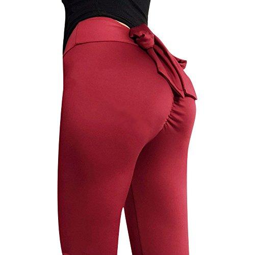 Miji Yoga Hosen Sport Leggings Damen Frauen Laufhose Streche Fitness Yoga Pants Trainingshose Jogginghose