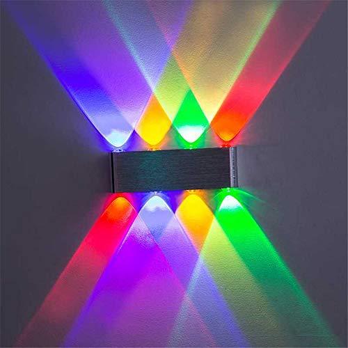 SSJY-LIGHTING Neon LED Wandleuchte Moderne Rechteck Form Indoor Auf Und Ab Wand Leuchten Für Wohnzimmer Schlafzimmer Bar Flur Korridor Veranda Bar Club 4 Wand Strahler 6 Watt,Blue -