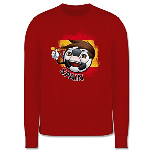 EM 2016 - Frankreich - Fußballjunge Spanien - Herren Premium Pullover Rot