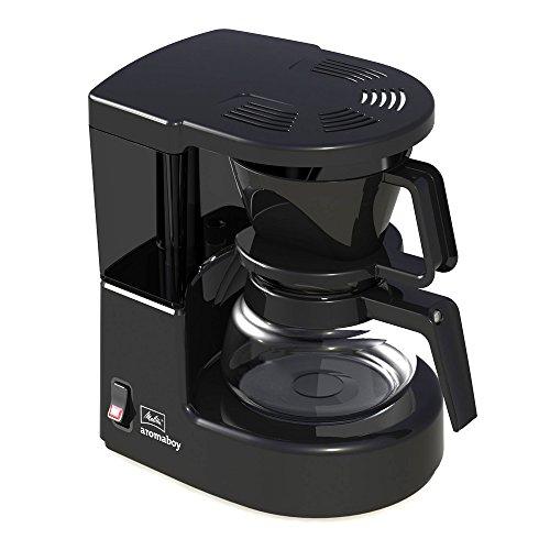 Melitta Aromaboy 1015-02, Kleine Filterkaffeemaschine mit Glaskanne, Schwarz