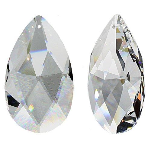 SWAROVSKI SPECTRA Crystal Rauten-Wachtel 63mm 2 Stück Kristall-Pendel als Fensterschmuck und Wohn-Accessoires Sonnenfänger Regenbogenkristall Feng Shui Hoch Brillant