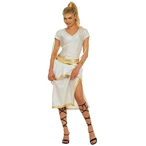 Widmann 37282 - Erwachsenenkostüm Athena - Kleid, Gürtel und Bänder, Größe M, Mehrfarbig (Griechische Göttin Athena-kostüme)