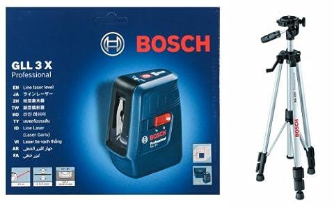 Bosch GLL 3 x professionnelle de niveau Laser en croix avec BS - 150–Trépied