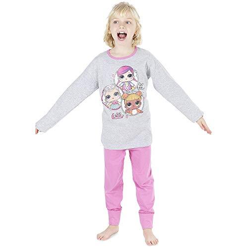 L.O.L Pigiama bambole a sorpresa per bambine PJs cotone morbido Pigiama Petti coriandoli PJ Lil Sisters (4-5 anni, rosa intenso) (4-5 anni, rosa intenso)