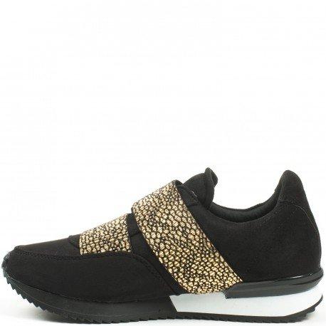Ideal Shoes - Baskets style running bi-matière à enfiler Kamila Doree
