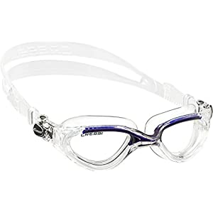 Cressi Flash Adult Swim Goggles (Clear/Blue)