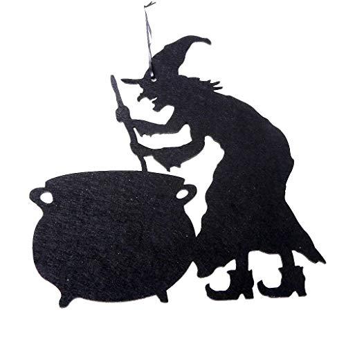 Lazzboy Halloween Vliestür hängen Dekor Spukhaus Fledermaus Home Party Decor #190809#(B,37.3cm x 31.7cm x 0.3cm)