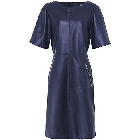 Nor Women's Tubino in pelle Blu