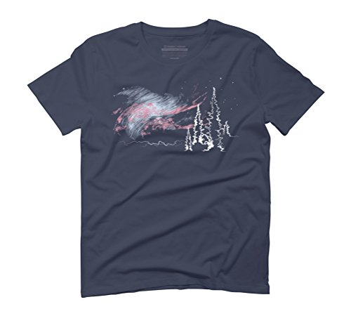 Aurora Borealis Men's 3X-Large Navy Graphic T-Shirt - Design By Humans (Borealis-bekleidung Aurora)