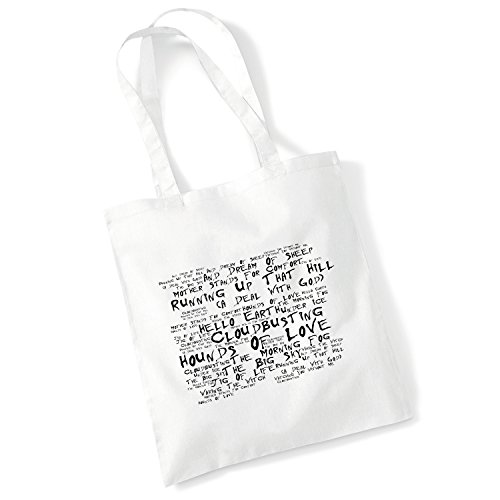 Price comparison product image Art Studio Tote Bag - KATE BUSH - Hounds of Love - Noir Paranoiac - Music Lyrics Album Art Print Poster Beach Gym Festival Shopper Gift