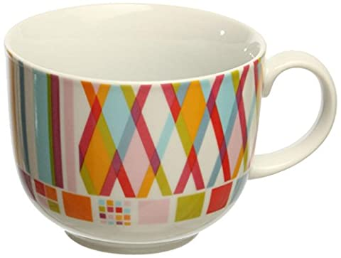 Tognana 400cc Iris Polychrome Breakfast Cup, White