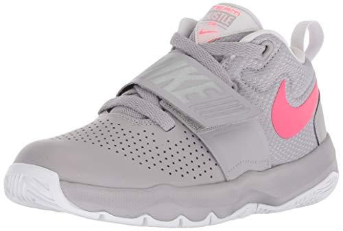 NIKE Boy's Team Hustle D 8 (PS) Pre School Basketball Shoe Atmosphere Grey/Racer Pink/Vast Grey Size 11.5 Kids US (Schuhe Nike Boys Basketball)