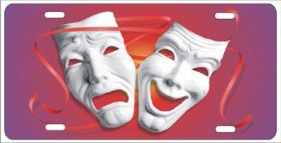 Komödie Masken - Theater Masken Komödie Tragödie Neuheit Front