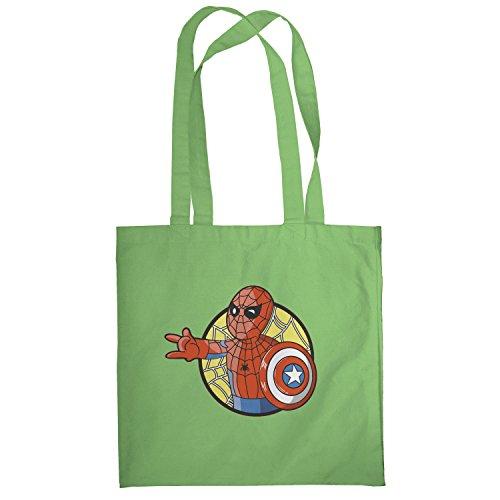 Texlab–Spider Boy–sacchetto di stoffa Verde chiaro