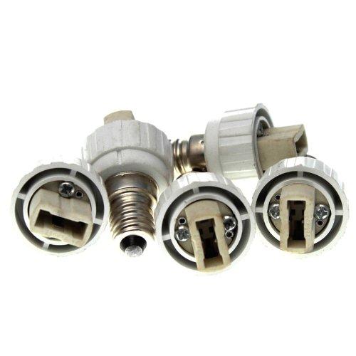 Adaptateur pour culot d'ampoule LED 5 Stk. E14 auf G9