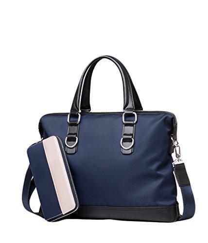 Herren Business Bag Tasche Oxford Handtasche Querschnitt Casual Bag Business Bag Aktentasche Schultertasche Diagonal Paket Blue+HandBag