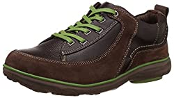 Redchief Mens Dark Brown Leather Trekking and Hiking Footwear Shoes - 6 UK/India (39 EU) (RC2890)