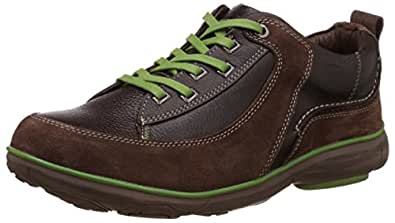 Redchief Men's Dark Brown Leather Trekking and Hiking Footwear Shoes - 9 UK/India (43 EU) (RC2890)