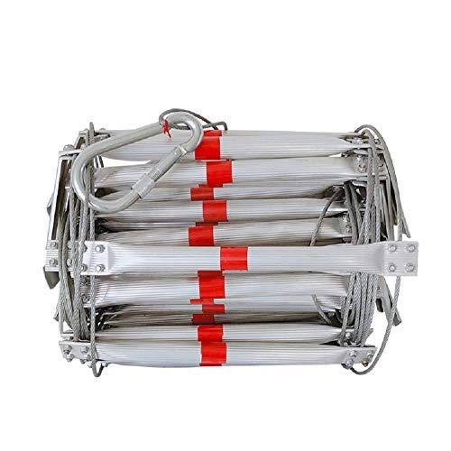 GPFDM Self-Rescue Escape Wire Ladder, Folding Aluminiumlegierter Stahldraht Weiche Leitern für Flucht Rettung, Arbeit in der Höhe, Brandschutz,25M