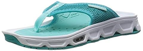 Salomon Damen RX Break Sport-& Outdoor Sandalen, Weiß (White/Teal Blue/Bubble Blue), 40 EU