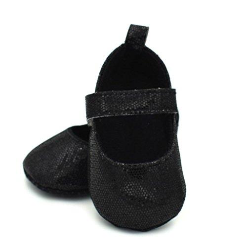 Clode® Neugeborene Kleinkind Baby Säuglings Mädchen Schuhe Nette weiche Sequins Anti Rutsch Schuhe Schwarz