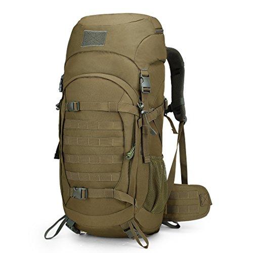 Mardingtop 50l zaino militare/tattico molle/campeggio/zaino di assalto/escursionismo/sport/patrol camping con la copertura impermeabile 29 x 23 x72cm