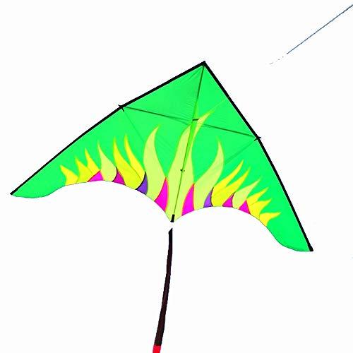 Unbekannt Aurora Drachen Groß Erwachsene Regenschirmgewebe Langer Schwanz Dreieck (Farbe : Grün)
