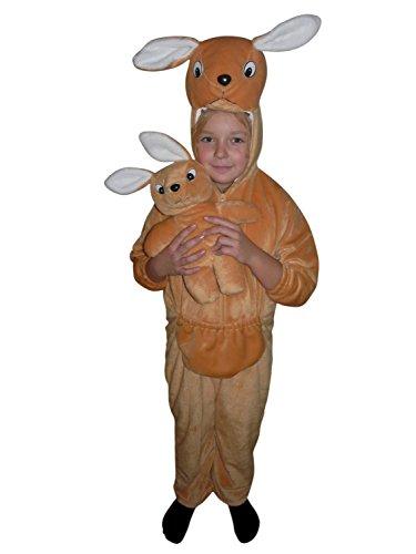 (Känguru-Kostüm, F29/00 Gr. 110-116, für Kinder, Känguru-Kostüme Kängurus für Fasching Karneval, Klein-Kinder Karnevalskostüme, Kinder-Faschingskostüme, Häschen-Kostüm als Geburtstags-Geschenk)