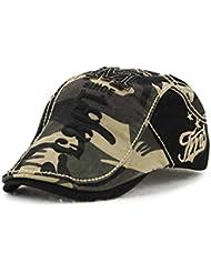Hommes Femmes Beret Newsboy Flat Chapeau de conduite causale Chapeau respirant de camouflage Bobury