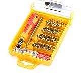 Gelber Kohlenstoffstahl + Plastik pp. Special 32 in 1 Präzisions-Hardware Schraubenzieher-Werkzeug-Sätze beweglicher Schraubenzieher-Installationssatz für Tabletten und Handys, Laptops