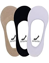 Supersox Women's Loafer Anti Slip No Show Socks Pack of 3