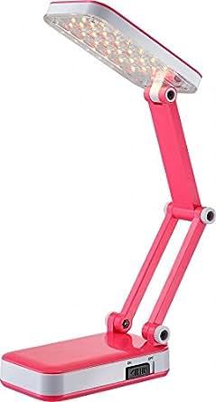 Lampe de table DEL traditionnelle en plastique rose bonbon luminaire éclairage LED