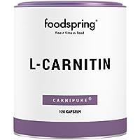foodspring L-Carnitin Kapseln, 120 Stück, Vegan, Ideal für das Figur-Training mit 1200mg Carnipure pro Portion, Hergestellt in Deutschland mit sorgfältig ausgewählten Rohstoffen