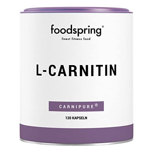 41xuPsK3GFL. SS500  - foodspring L-Carnitine, 120 Capsules, Vegan, Ideal for Figure Training with 1000mg Carnipure per 100g