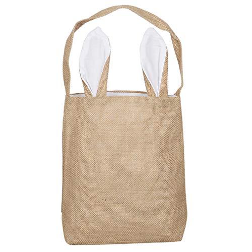 y Bag Ostern Korb Tote Handtasche tragen Eier Geschenke für die Osterparty, weiß ()