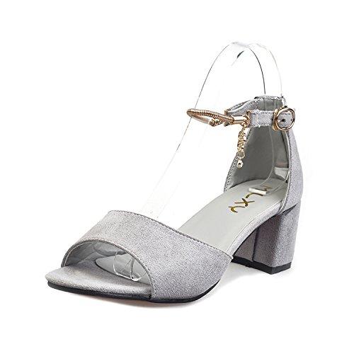 LGK&FA Sandali Con Tacco Alto E Scarpe Femmina 36 Grigio 36 grey