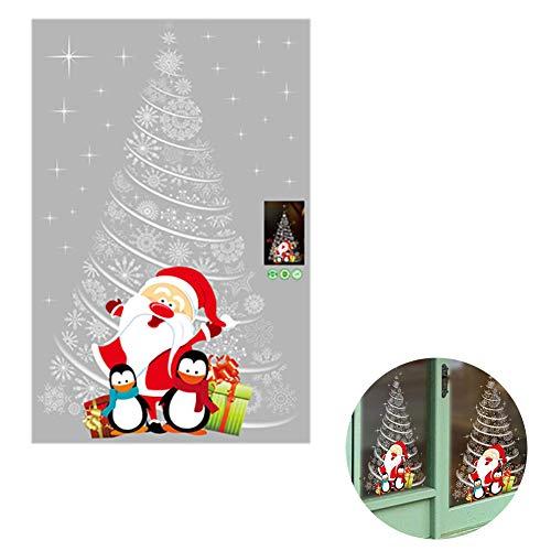 TOPFAY Pared Ventana 1PC Navidad Pegatinas Windows