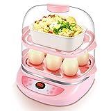 Elektrischer Eierkocher 12 Eier Edelstahl Egg Boiler inkl Messbecher Abschaltautomatik Rosa