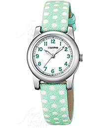 Reloj Calypso Junior Collection Kids niña caja acero correa verde lunares K5713/5