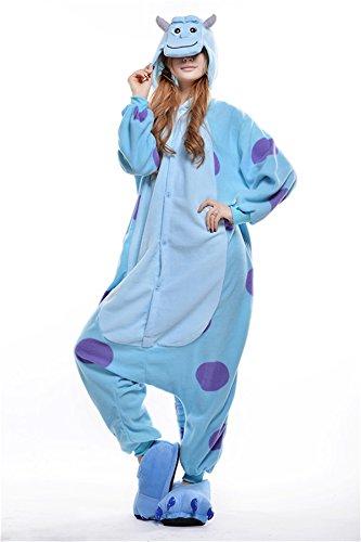 VU ROUL Erwachsene Kigurumi Cosplay Kostüm Monsters University Sullivan Schlafanzug Gr. Small, Sullivan