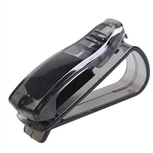 LIUYUNE,Auto-Multifunktionsbrille Clip Kunststoff Auto Brille Fram(Color:SCHWARZ)