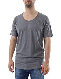 IRIEDAILY - T-shirt - Homme - Tshirt Long Col Rond Profond Gris Clair pour homme
