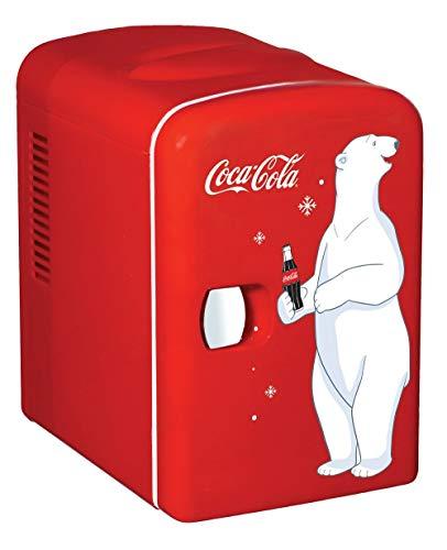 Coca-Cola KWC4Kühlschrank, Elektrisch, Unisex, für Erwachsene, Rot (Kleine Cola Kühlschrank)
